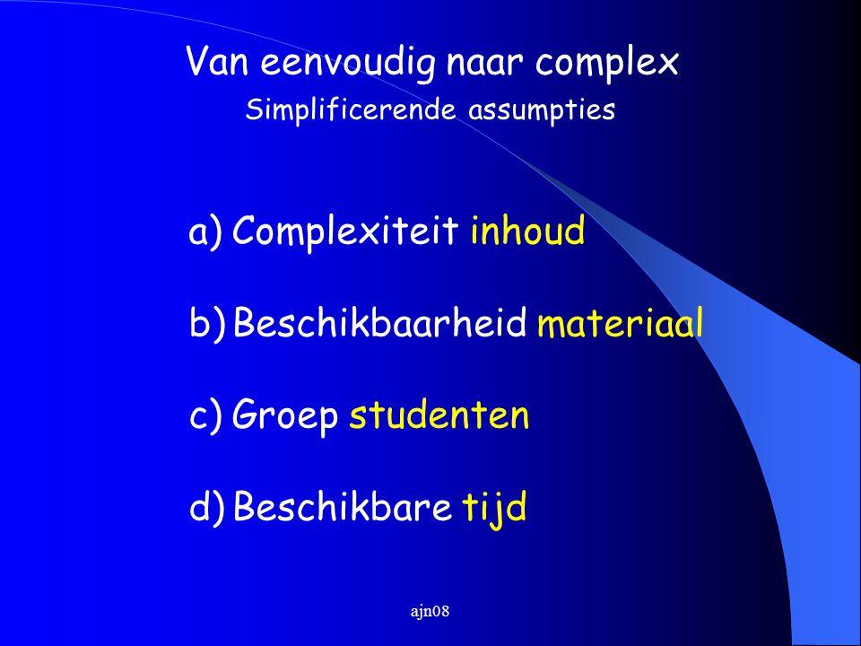 Van eenvoudig naar complex