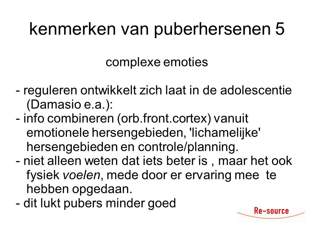kenmerken van puberhersenen 5