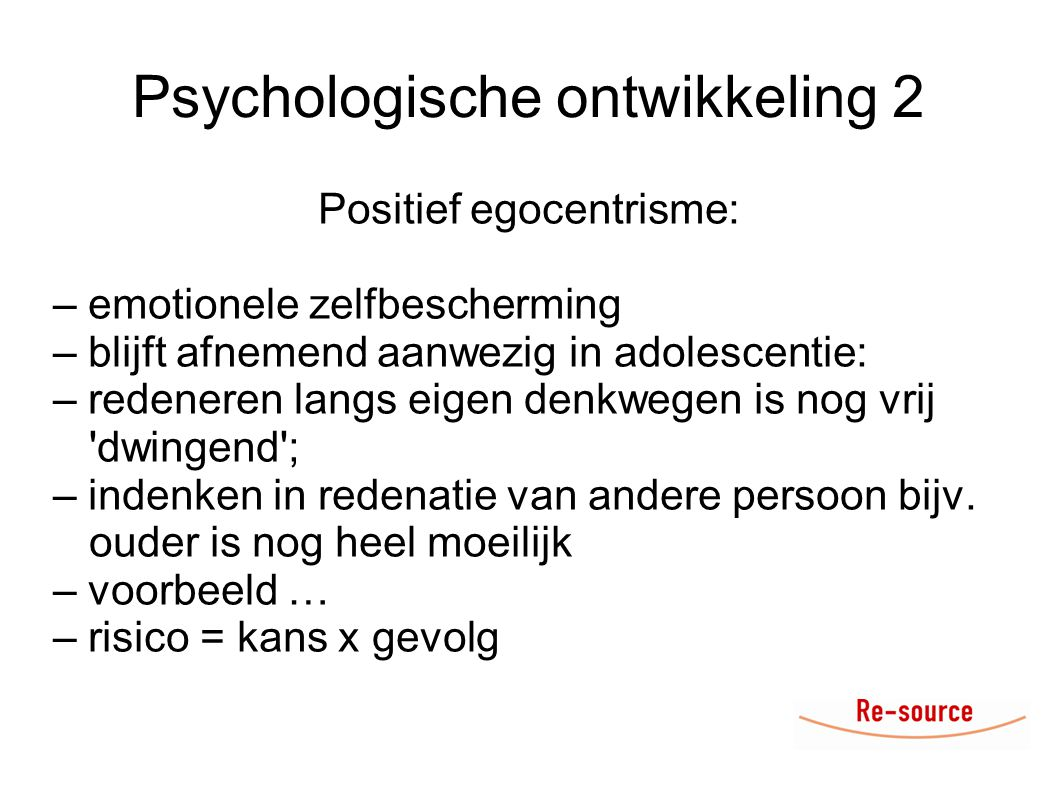 Psychologische ontwikkeling 2