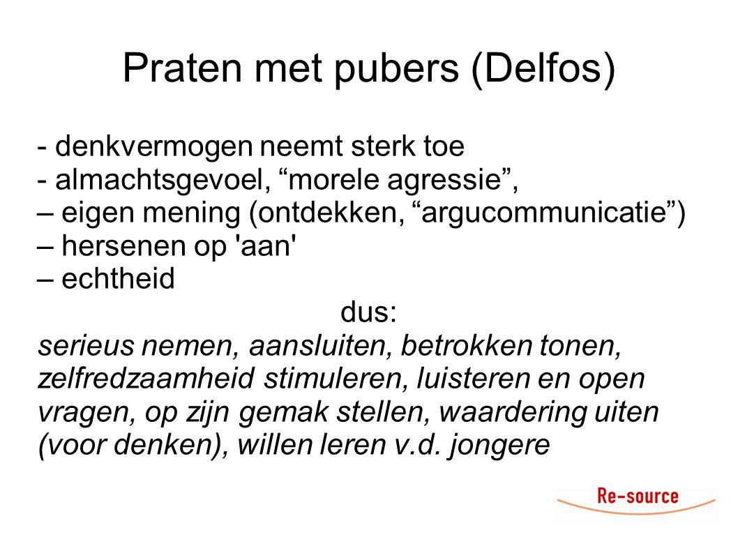 Praten met pubers (Delfos)