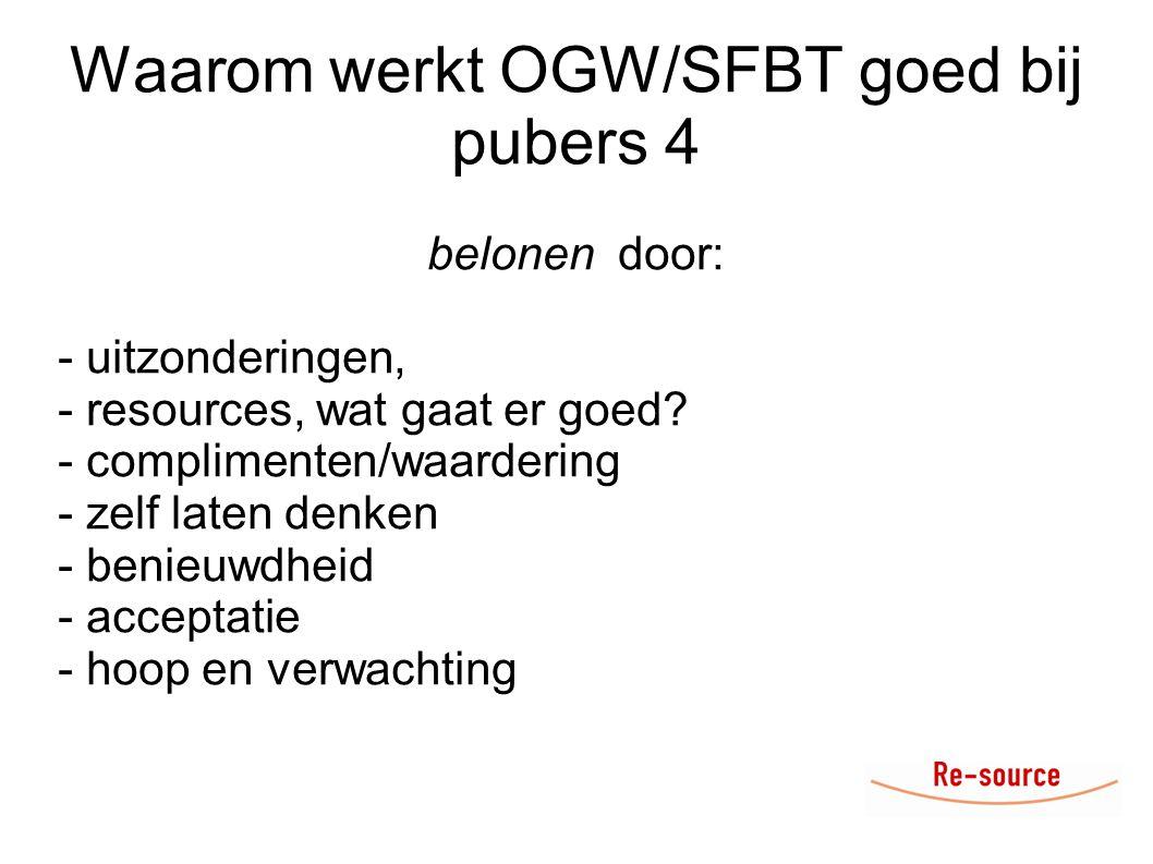 Waarom werkt OGW/SFBT goed bij pubers 4