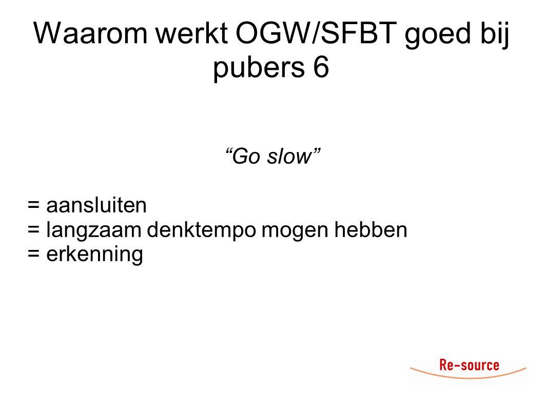 Waarom werkt OGW/SFBT goed bij pubers 6