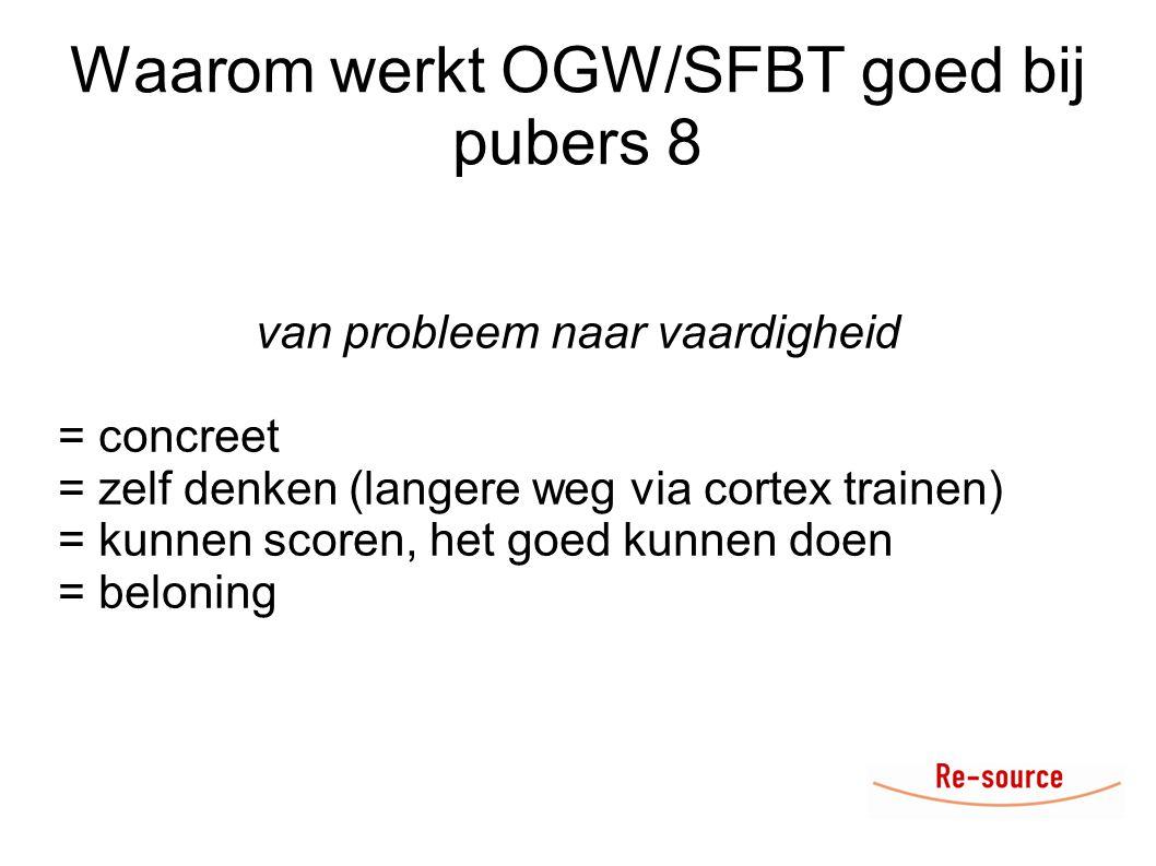 Waarom werkt OGW/SFBT goed bij pubers 8