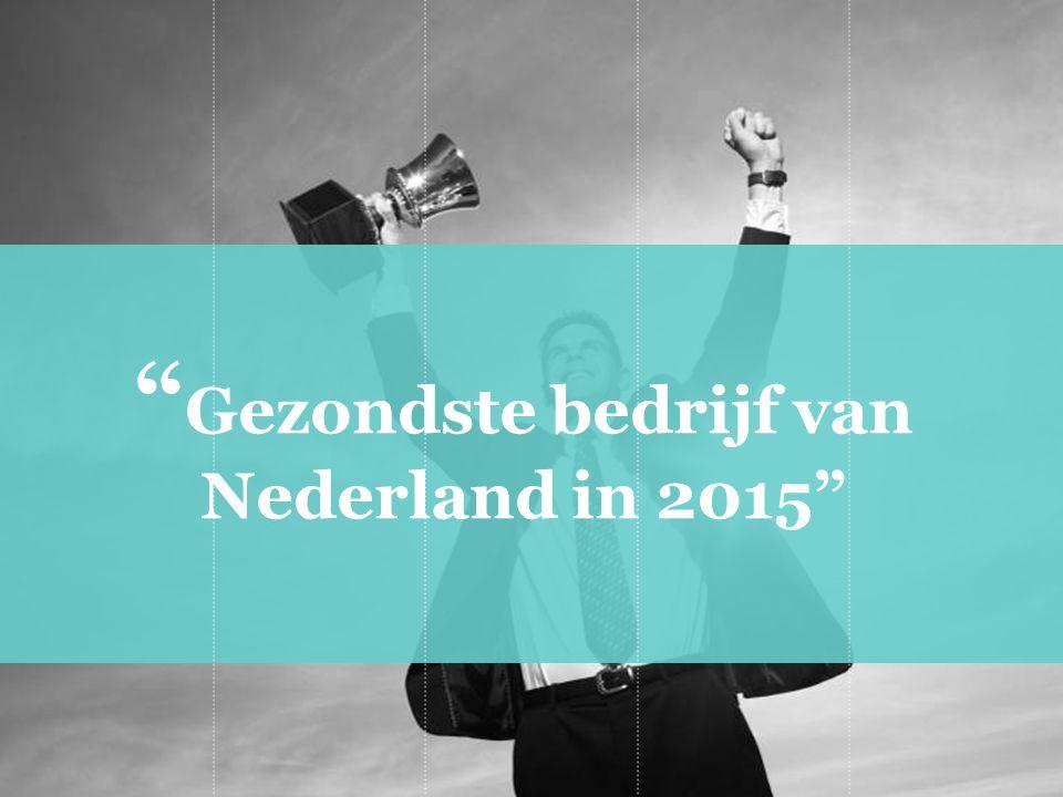 Gezondste bedrijf van Nederland in 2015