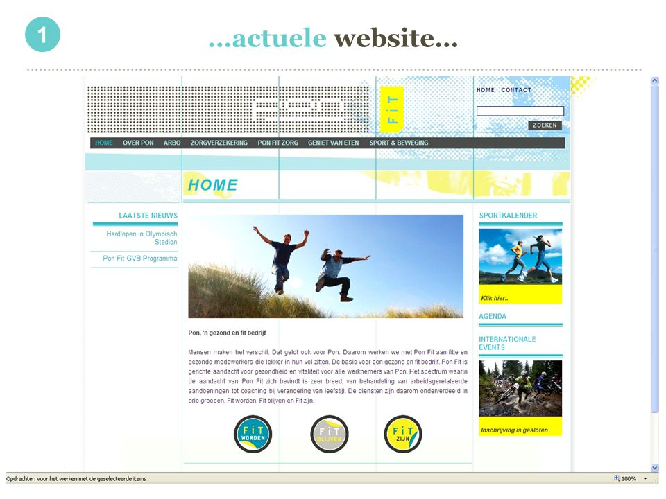 1 …actuele website…