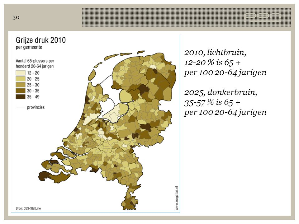 2010, lichtbruin, 12-20 % is 65 + per 100 20-64 jarigen