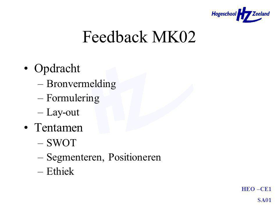 Feedback MK02 Opdracht Tentamen Bronvermelding Formulering Lay-out