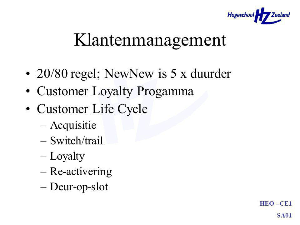 Klantenmanagement 20/80 regel; NewNew is 5 x duurder