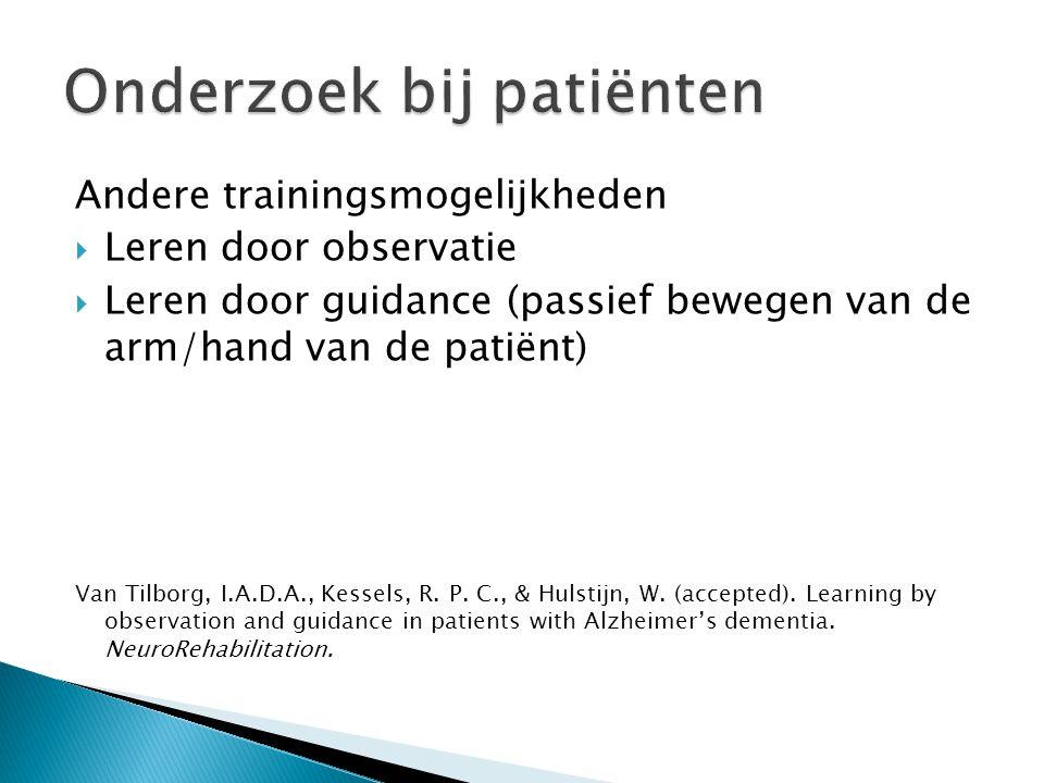 Onderzoek bij patiënten