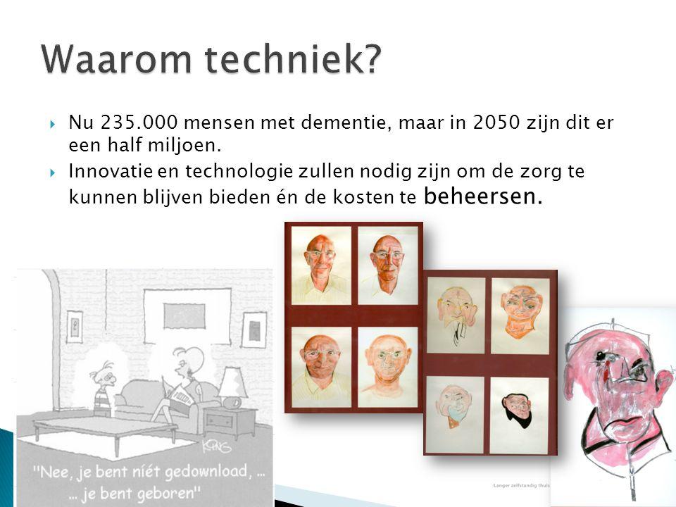 Waarom techniek Nu 235.000 mensen met dementie, maar in 2050 zijn dit er een half miljoen.