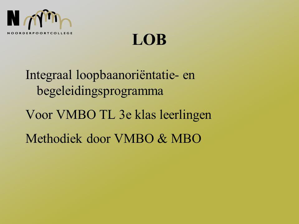 LOB Integraal loopbaanoriëntatie- en begeleidingsprogramma