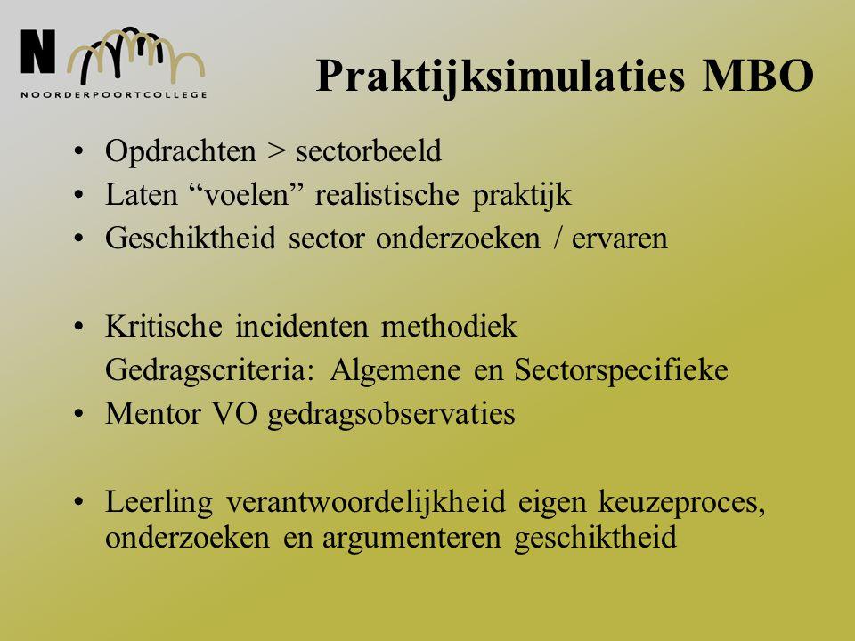 Praktijksimulaties MBO