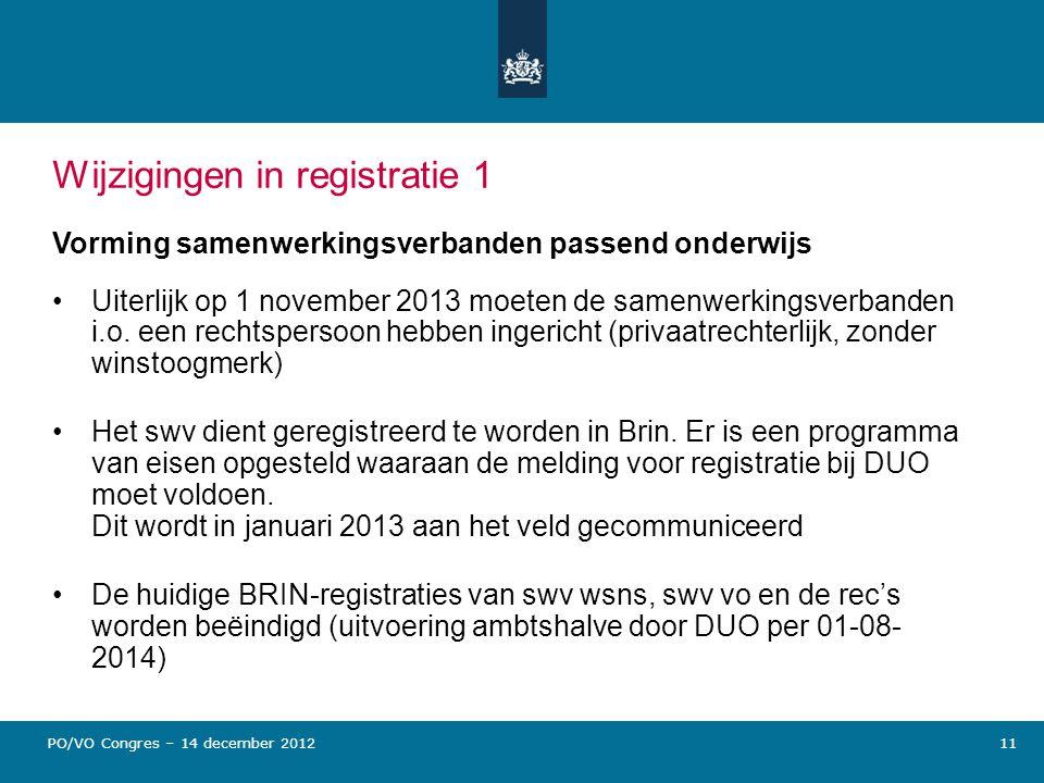Wijzigingen in registratie 1