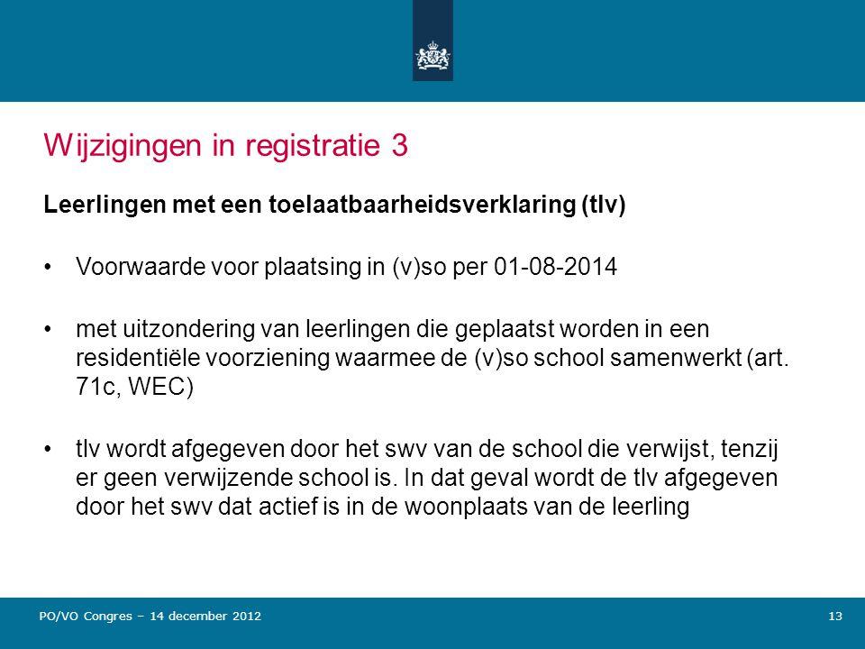 Wijzigingen in registratie 3
