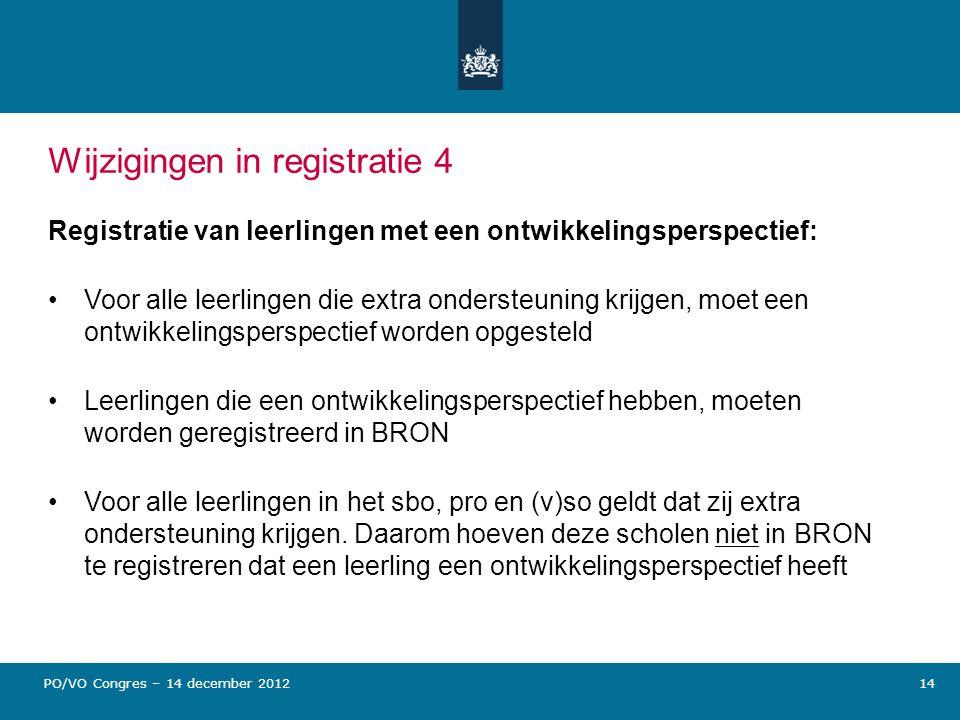 Wijzigingen in registratie 4