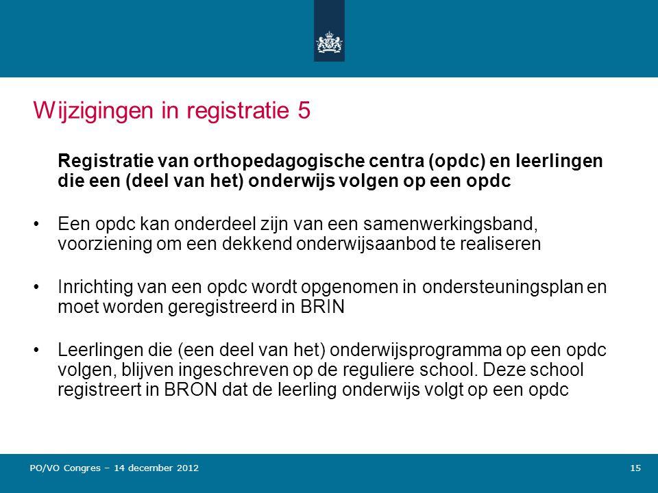 Wijzigingen in registratie 5