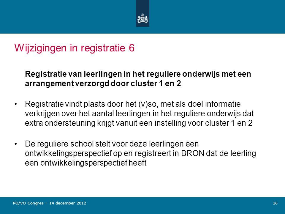 Wijzigingen in registratie 6