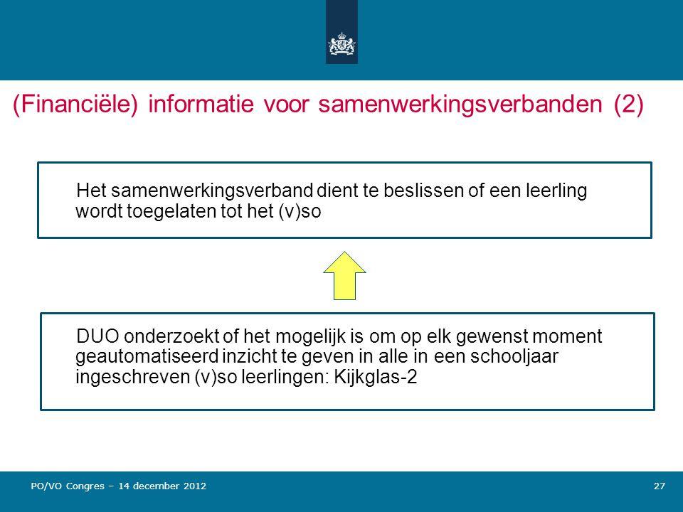 (Financiële) informatie voor samenwerkingsverbanden (2)