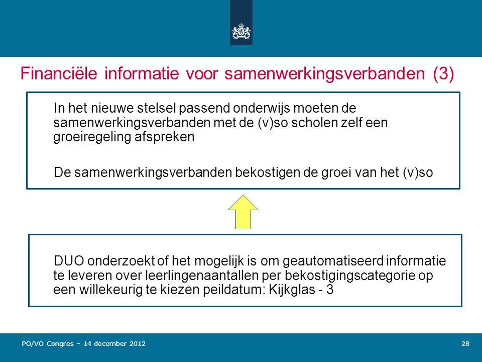 Financiële informatie voor samenwerkingsverbanden (3)