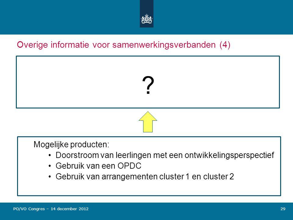 Overige informatie voor samenwerkingsverbanden (4)
