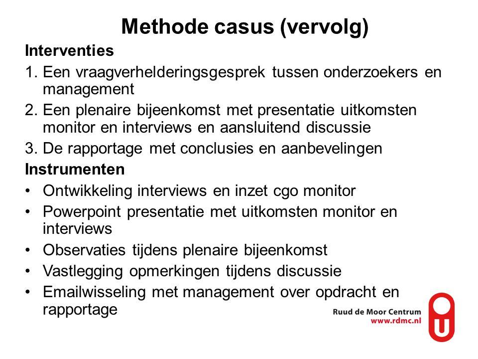 Methode casus (vervolg)