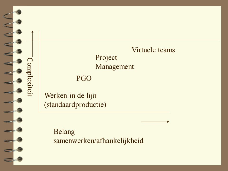 Virtuele teams Project Management. PGO. Complexiteit.