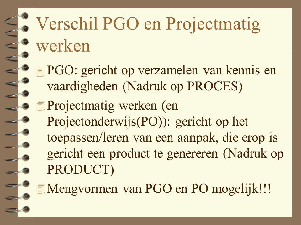 Verschil PGO en Projectmatig werken