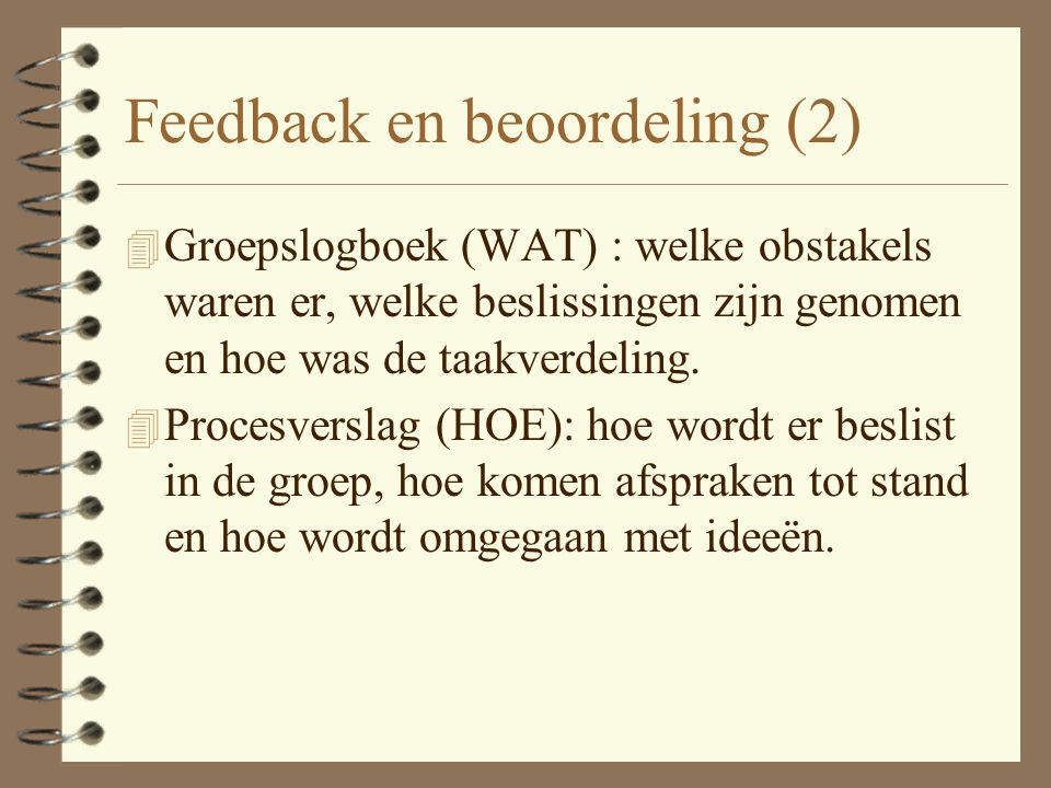 Feedback en beoordeling (2)