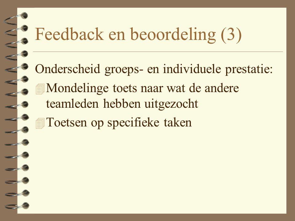 Feedback en beoordeling (3)