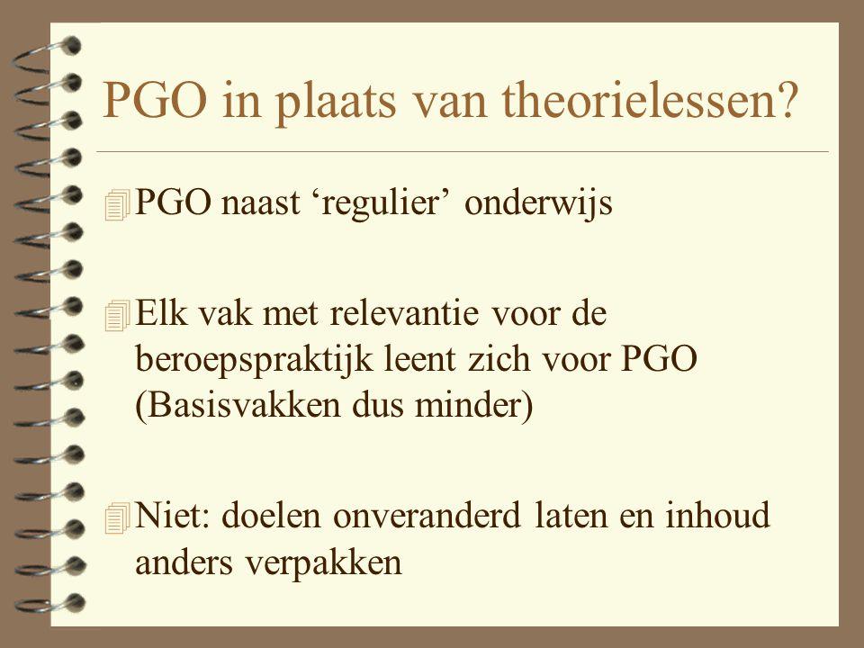 PGO in plaats van theorielessen