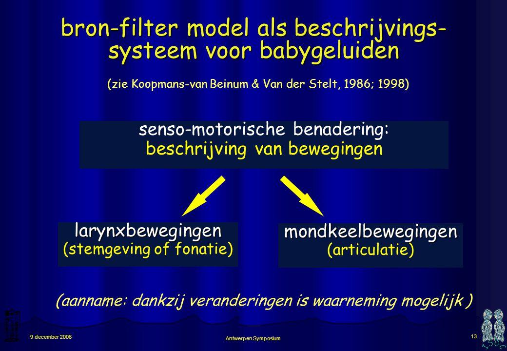 bron-filter model als beschrijvings- systeem voor babygeluiden