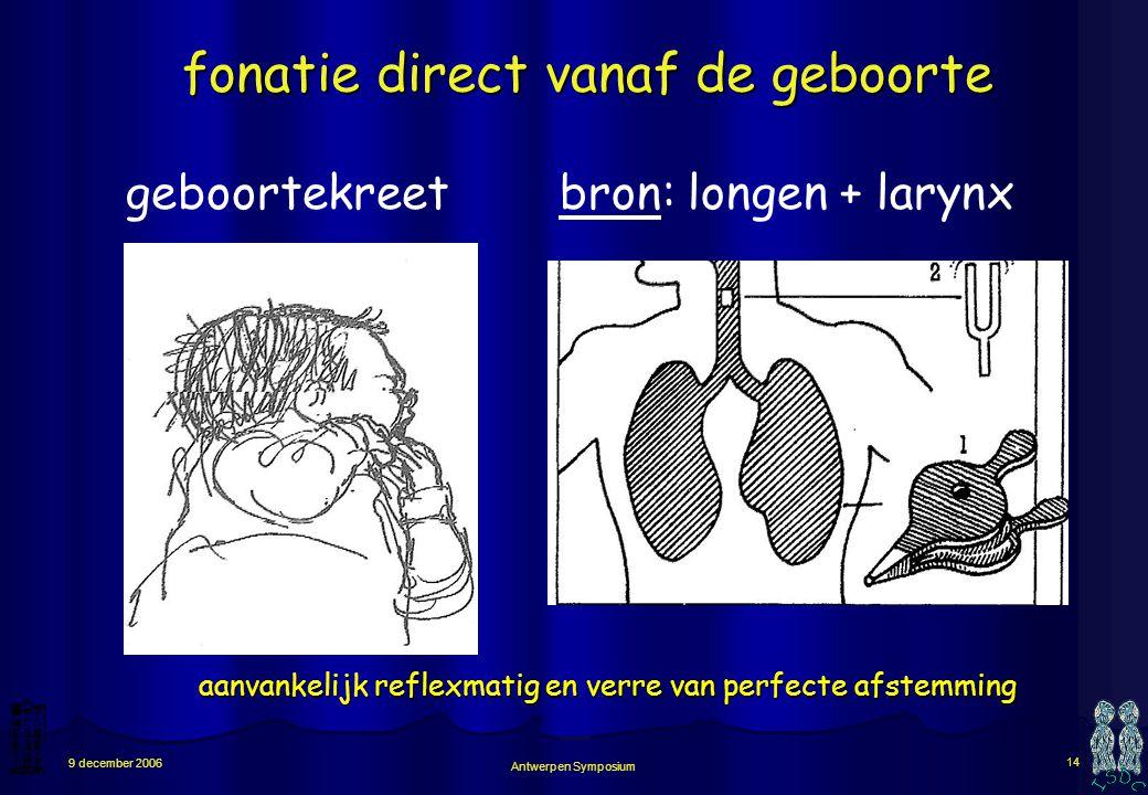 fonatie direct vanaf de geboorte