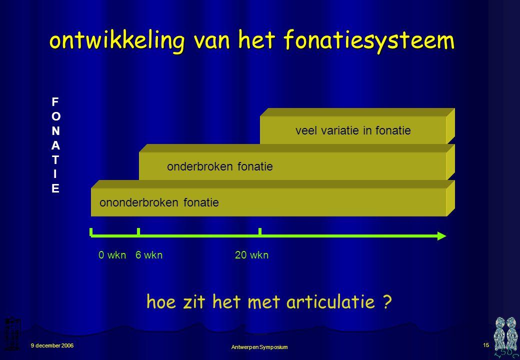 ontwikkeling van het fonatiesysteem