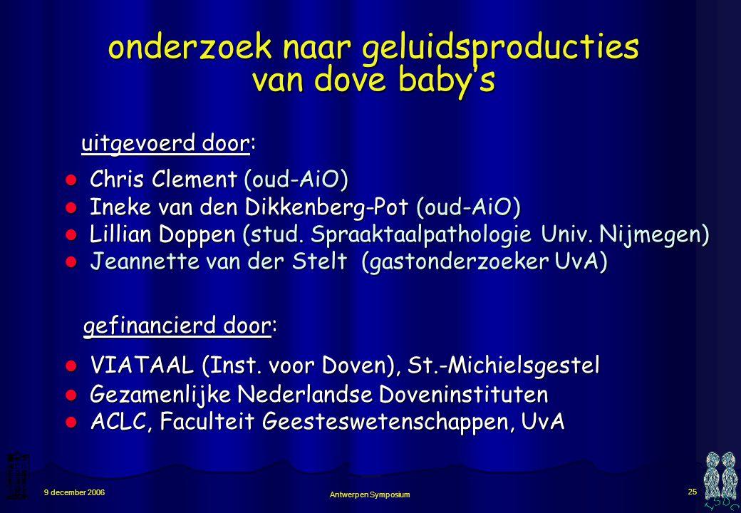 onderzoek naar geluidsproducties van dove baby's