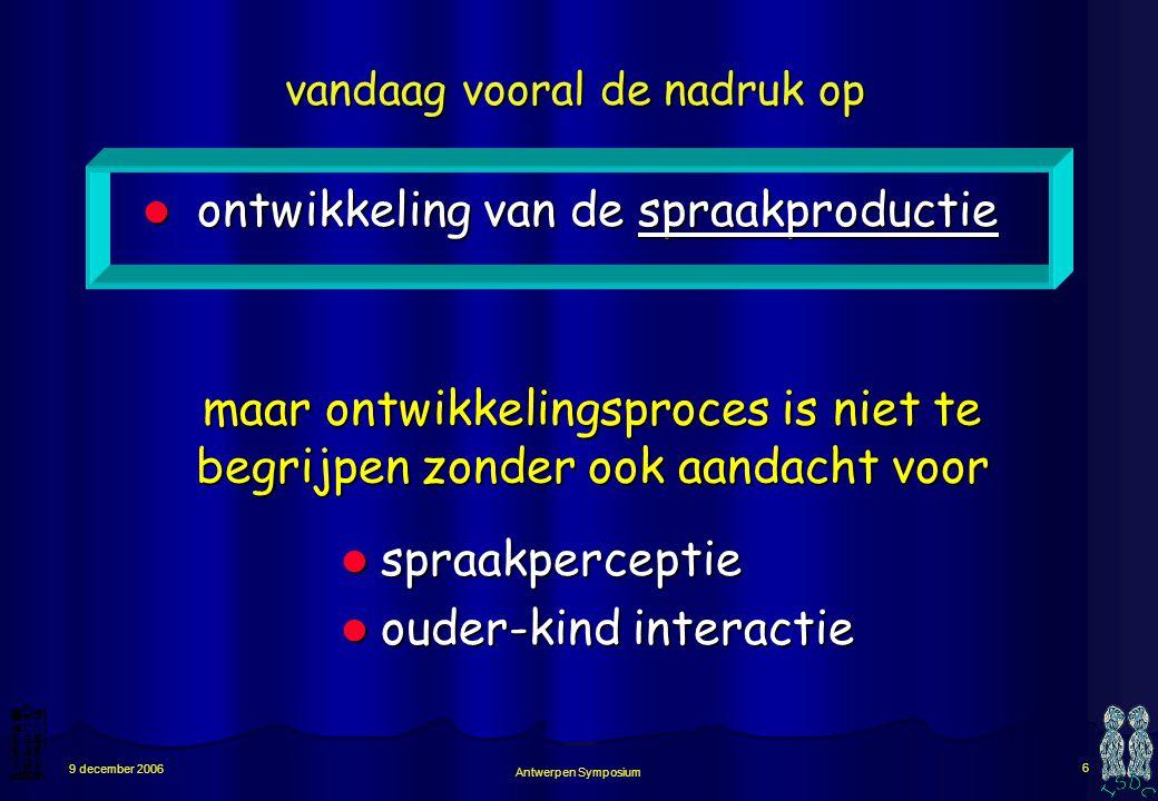 ontwikkeling van de spraakproductie