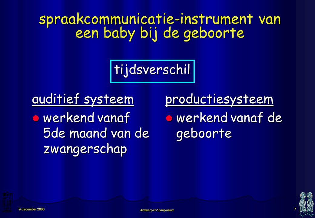 spraakcommunicatie-instrument van een baby bij de geboorte