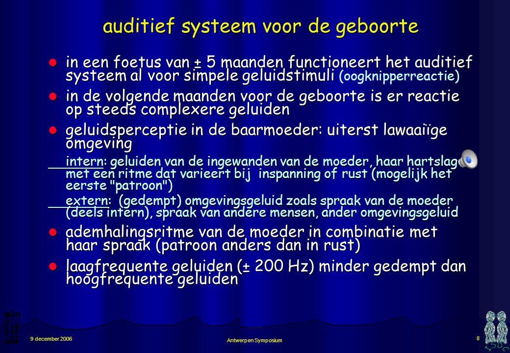 auditief systeem voor de geboorte