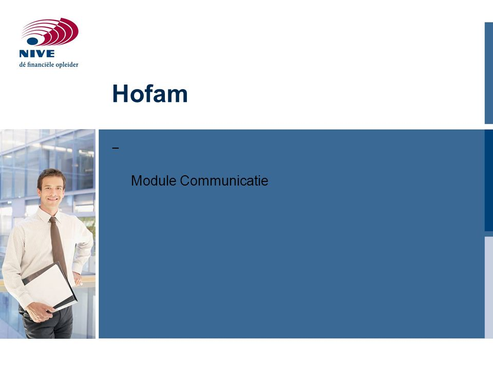 Hofam Module Communicatie