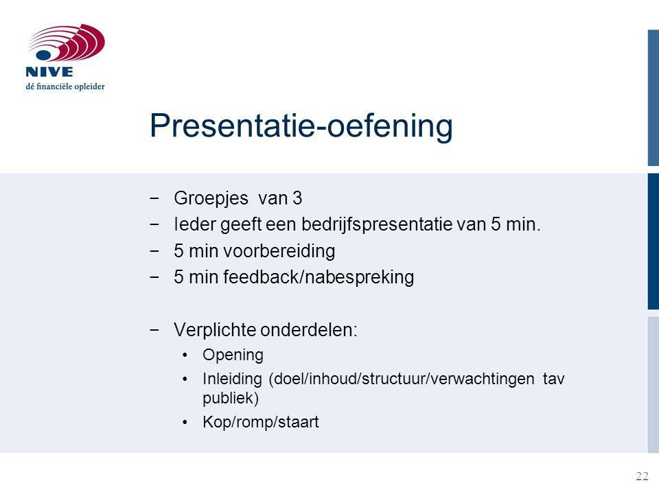 Presentatie-oefening