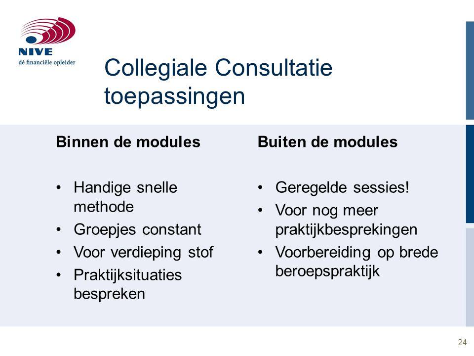 Collegiale Consultatie toepassingen