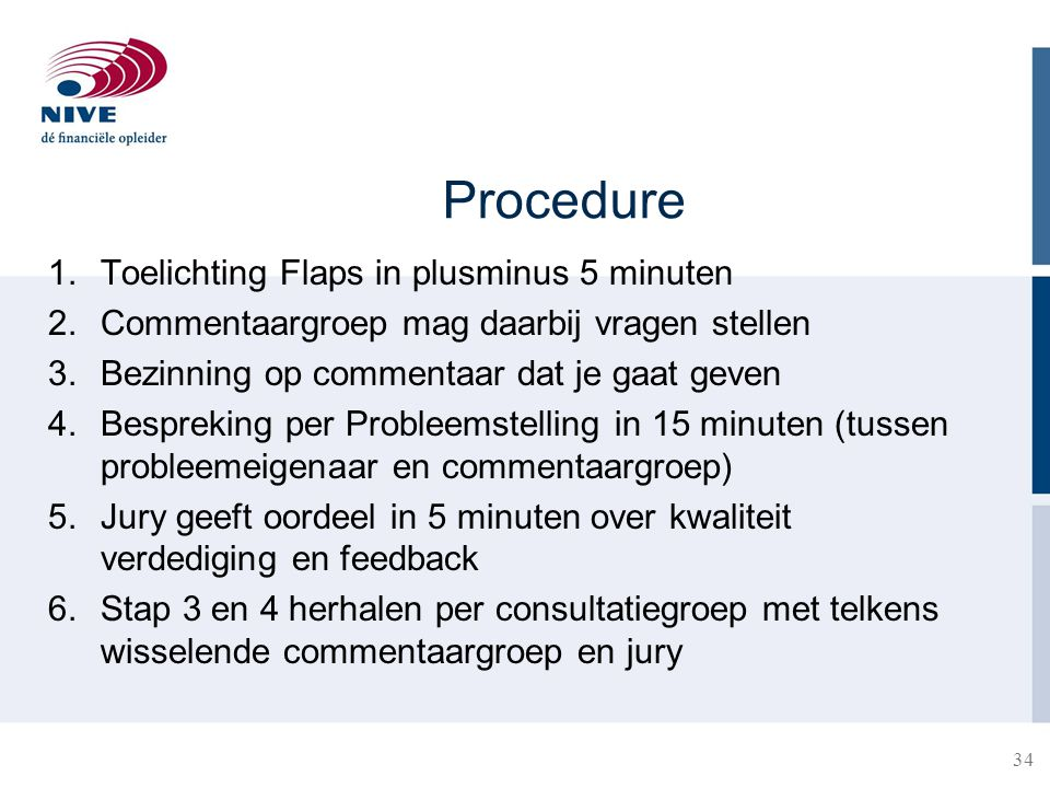 Procedure Toelichting Flaps in plusminus 5 minuten