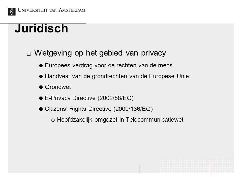 Juridisch Wetgeving op het gebied van privacy