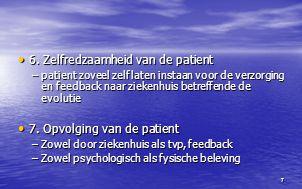 6. Zelfredzaamheid van de patient