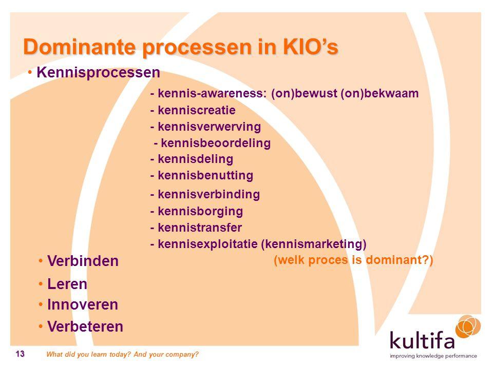 Dominante processen in KIO's