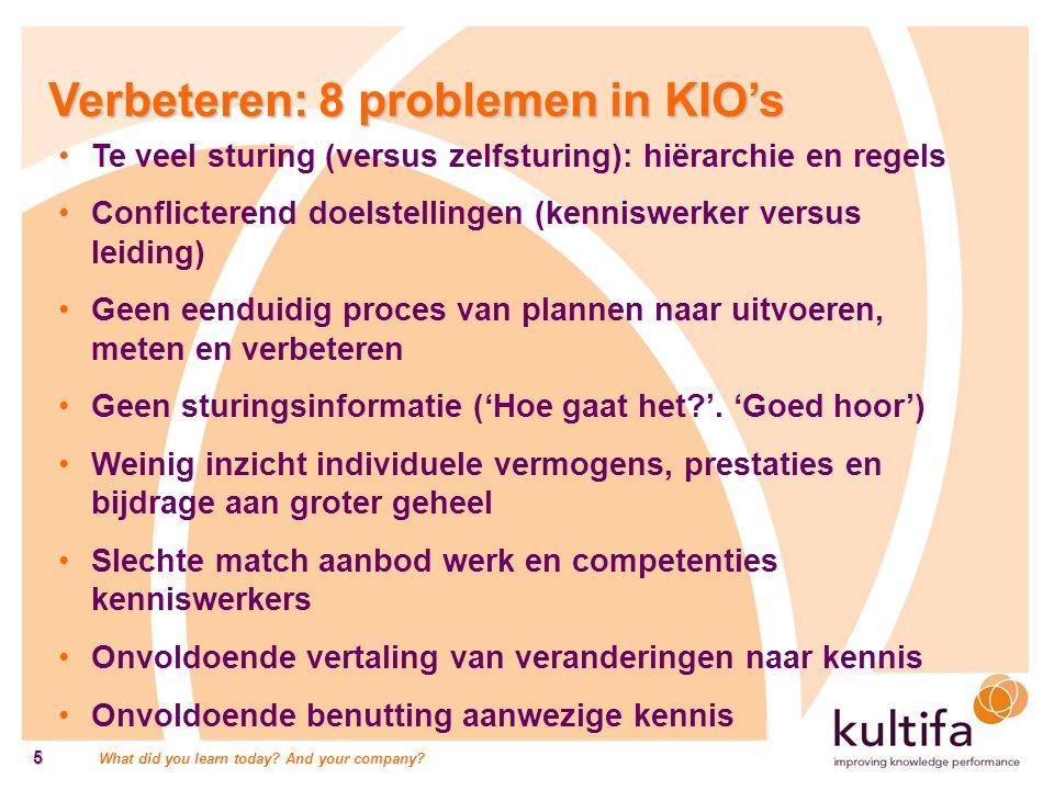 Verbeteren: 8 problemen in KIO's