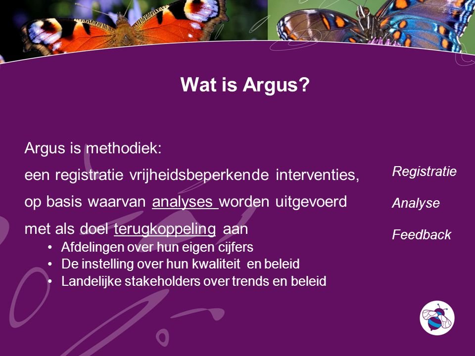 Wat is Argus Argus is methodiek: