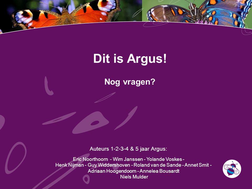 Auteurs 1-2-3-4 & 5 jaar Argus: