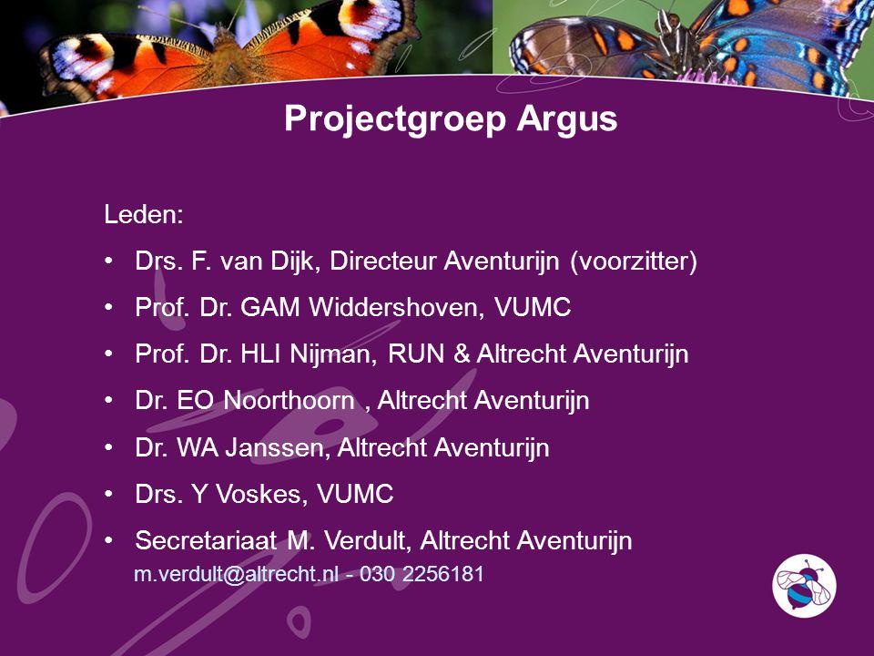 Projectgroep Argus Leden: