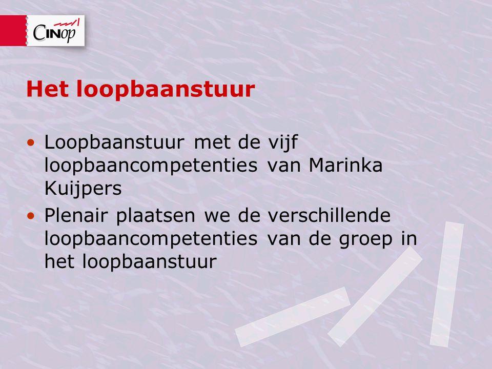 Het loopbaanstuur Loopbaanstuur met de vijf loopbaancompetenties van Marinka Kuijpers.