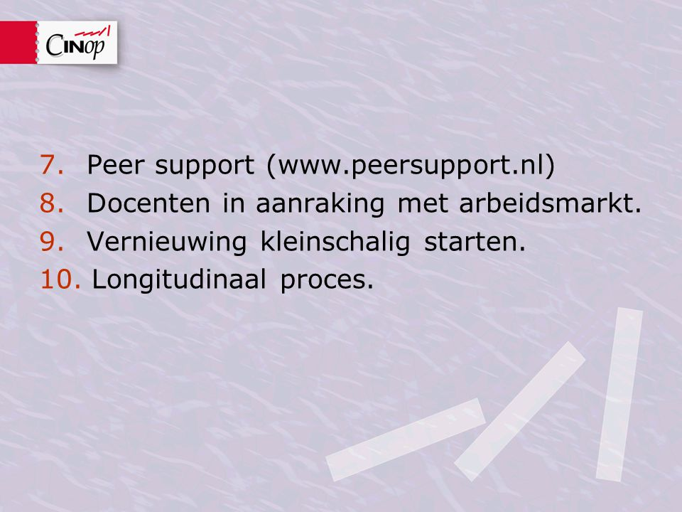 Peer support (www.peersupport.nl)